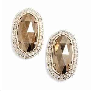 Kendra Scott Elaine earrings in Pyrite and gold